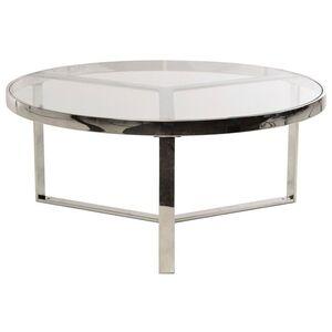 Журнальный стол Vetro Mebel CB-1 Прозрачный-серебро