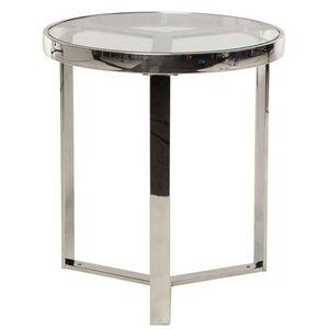 Журнальный стол Vetro Mebel CB-2 Прозрачный-серебро