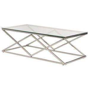 Журнальный стол Vetro Mebel CD-1 Прозрачный-серебро