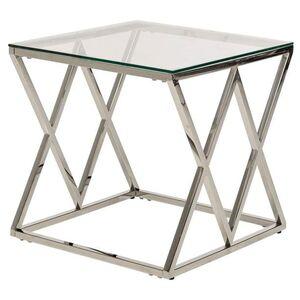 Журнальный стол Vetro Mebel CD-2 Прозрачный-серебро