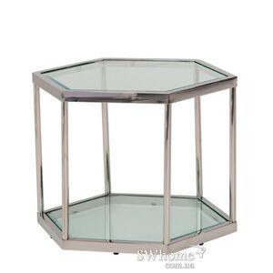 Кофейный стол Vetro Mebel CK-2 Прозрачный - серебро
