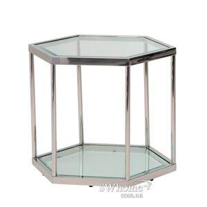 Кофейный стол Vetro Mebel CK-1 Прозрачный - серебро