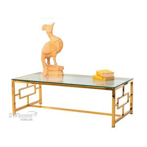 Журнальный стол Vetro Mebel CL-1 Прозрачный - золото