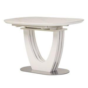Керамический стол раскладной обеденный Vetro Mebel TML-865-1 Белый мрамор