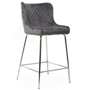 Барный стул Vetro Mebel B-120-1 Серый