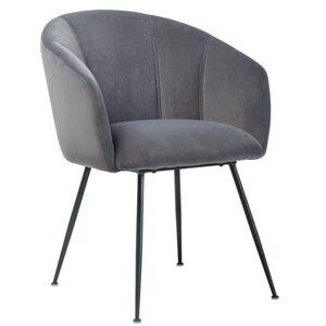 Стул кресло Vetro Mebel M-60 Серый вельвет
