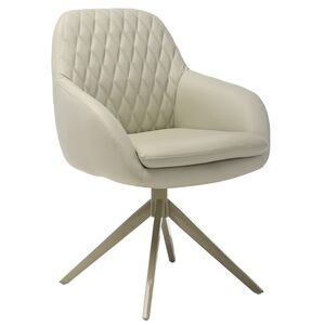 Поворотное кресло Vetro Mebel R-85 Светло-серое