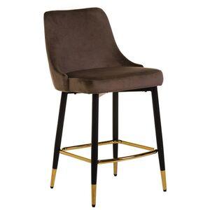Полубарный стул Vetro Mebel B-128 Мокко вельвет