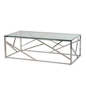 Журнальный стол Vetro Mebel CF-1 Прозрачный - серебро