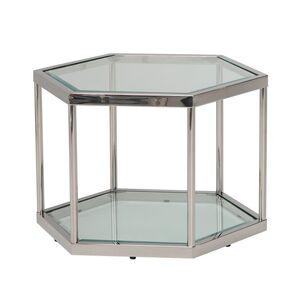 Кофейный стол Vetro Mebel CK-3 Прозрачный - серебро