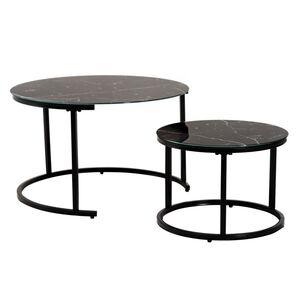 Комплект столов Vetro Mebel CS-25 Черный мрамор