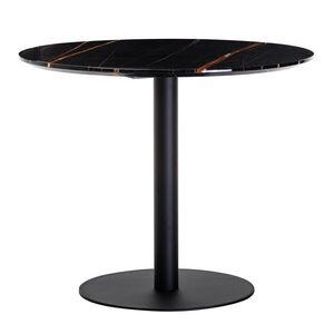 Обеденный стол Vetro Mebel T-320 Черная магма мрамор