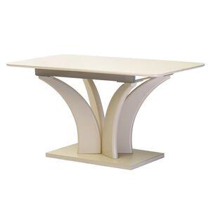 Раскладной обеденный стол Vetro Mebel TML-515 Матовый молочный