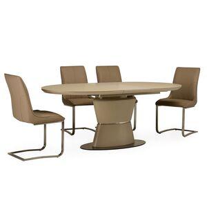Стол раскладной обеденный Vetro Mebel TML-755 Матовый Капучино