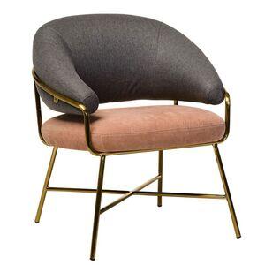 Кресло Vetro Mebel Адель Серый-розовый