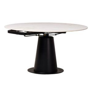 Раскладной обеденный стол Vetro Mebel TML-831 Бьянко Перлино