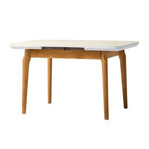 Раскладной обеденный стол Vetro Mebel TM-72 Матовый белый