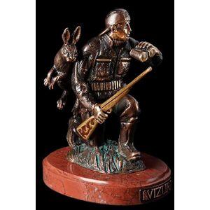 Статуэтка бронзовая Vizuri (Визури) Охотник H01