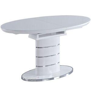Стол раскладной Bellini Луна Белый лак стекло