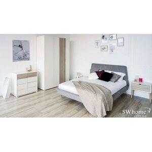 Двуспальная кровать Embawood Грей Серая