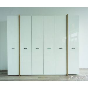 Шкаф Embawood Альба 6-дверный Белый