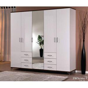 Шкаф Embawood Мода 5-дверный Белый - Орех