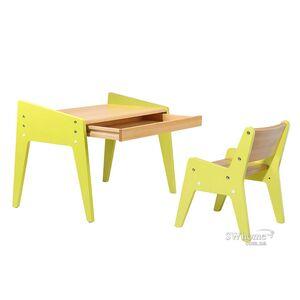 Комплект детской деревянной мебели парта и стульчик Fundesk Omino Green