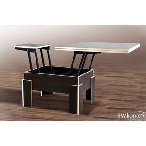 Стол-трансформер Микс-мебель Дельта Венге-молочная кромка