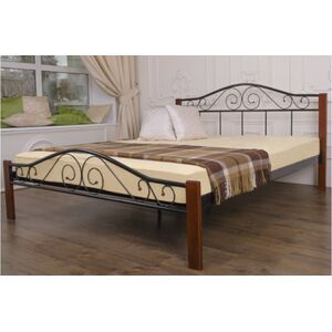 Кровать Микс-мебель Респект Вуд Черная