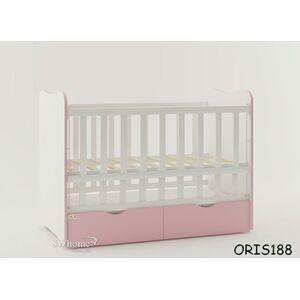 Детская кроватка Oris Fiona Бело-розовый
