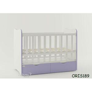 Детская кроватка Oris Fiona Бело-лиловый