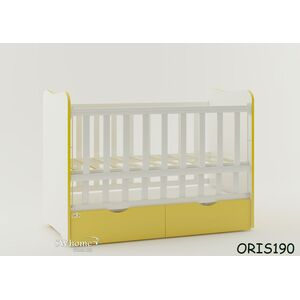 Детская кроватка Oris Fiona Бело-желтый