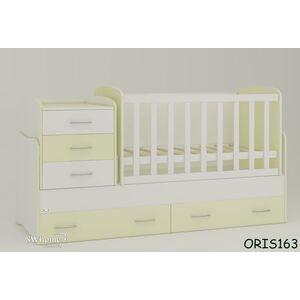 Детская кроватка-трансформер Oris Afina Бело-ванильная