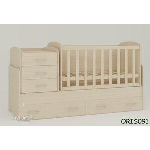 Детская кроватка-трансформер Oris Afina Дуб молочный