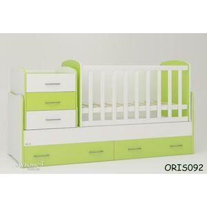 Детская кроватка-трансформер Oris Afina Бело-зеленая