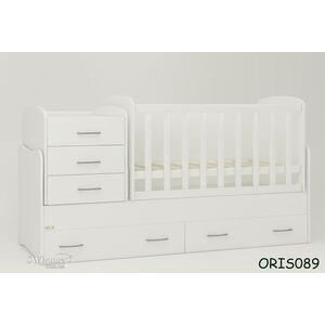 Детская кроватка-трансформер Oris Afina Белая