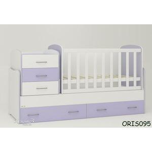 Детская кроватка-трансформер Oris Afina Бело-лиловая