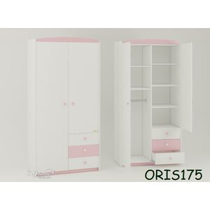 Детский шкаф Modern Marica Бело-розовый