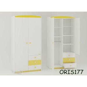 Детский шкаф Modern Marica Бело-желтый