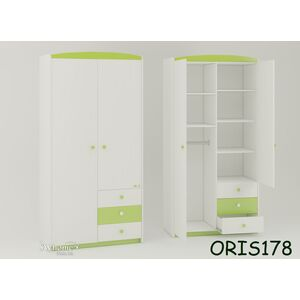 Детский шкаф Modern Marica Бело-зеленый