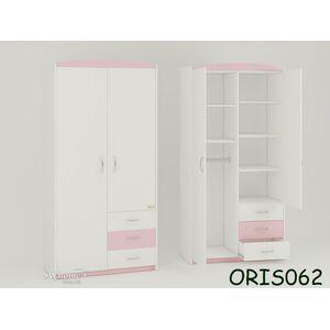 Детский шкаф Modern Maya Бело-розовый