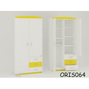 Детский шкаф Modern Maya Бело-желтый