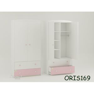 Детский шкаф Classik Marica Бело-розовый