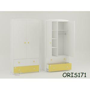 Детский шкаф Classik Marica Бело-желтый