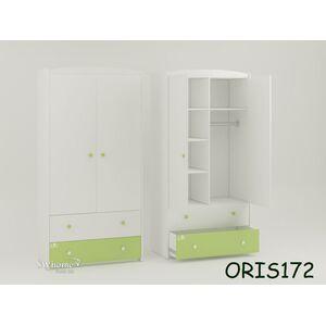 Детский шкаф Classik Marica Бело-зеленый