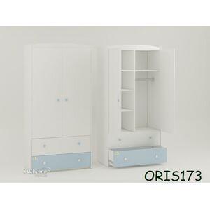 Детский шкаф Classik Marica Бело-голубой