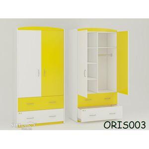 Детский шкаф Classik Maya Бело-желтый