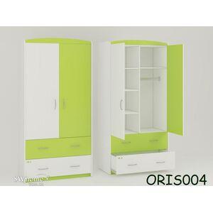 Детский шкаф Classik Maya Бело-зеленый