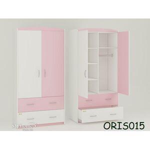Детский шкаф Classik Maya Бело-розовый