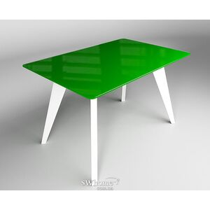 Стол обеденный Леонардо Зелено-белый